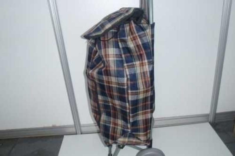 Зі старої сумки на коліщатках зробила пересувну грядку, щоб ховати огірки в тінь
